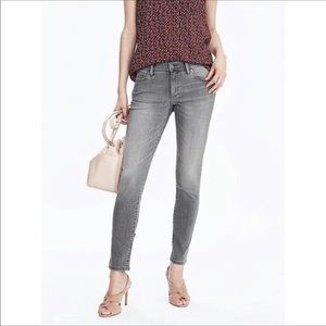 Banana Republic grey skinny ankle jeans 27